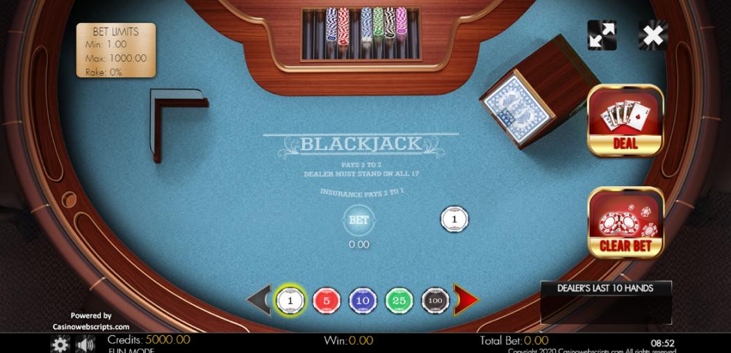 Blackjack Clásico
